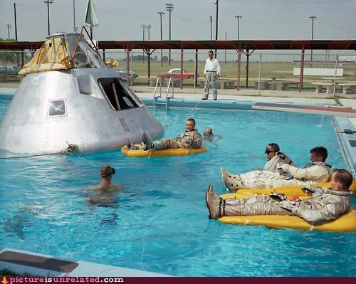 astronauts,ominous,pools,relaxation,sci fi,sunshine,wtf
