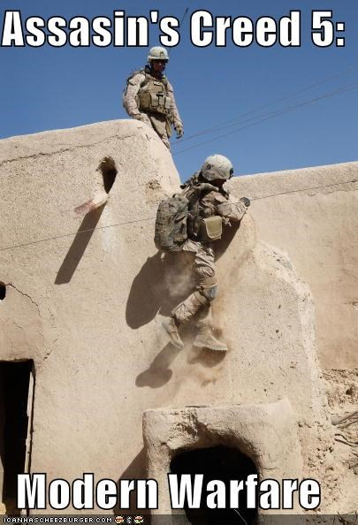 assassins creed,funny,game,Hall of Fame,lolz,modern warfare,soldier