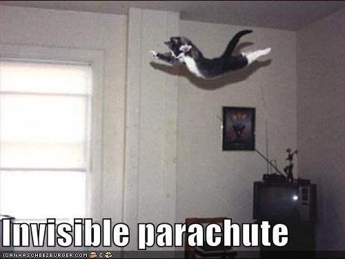 Invisible parachute