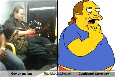 Guy on my bus Totally Looks Like Comicbook store guy