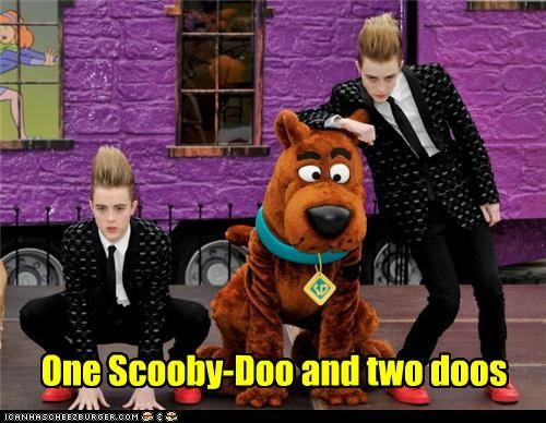 One Scooby-Doo and two doos