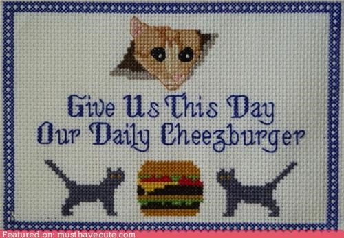 ceiling cat,cheezburger,craft,cross stitch,cute-kawaii-stuff-teh-ineffable-cross-stitch
