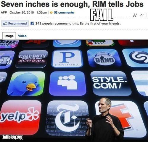 apple,blackberry,failboat,headline,innuendo,mobile phones,Probably bad News,RIM,steve jobs,technology