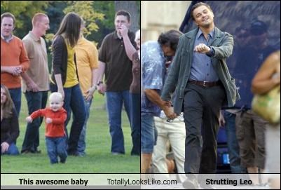 This awesome baby Totally Looks Like Strutting Leo