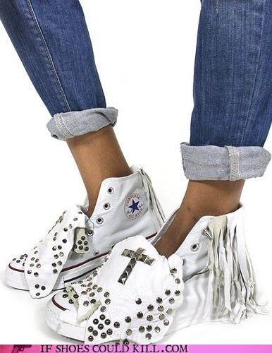 Bling,chuck taylor,converse,cowgirl,custom,Fringe,hardware,punk,sneakers,studs