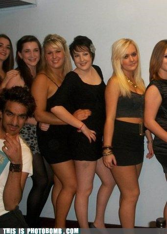 dressing up,Good Times,ladies,nice stache,photobomb,very nice