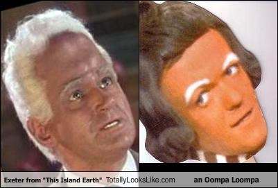 "Exeter from ""This Island Earth"" Totally Looks Like an Oompa Loompa"