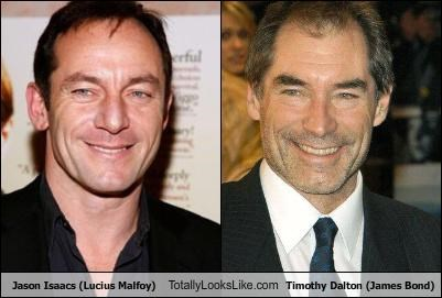 Jason Isaacs (Lucius Malfoy) Totally Looks Like Timothy Dalton (James Bond)