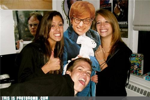 austin powers,celeb,Celebrity Edition,dwight,group,kidding,photobomb