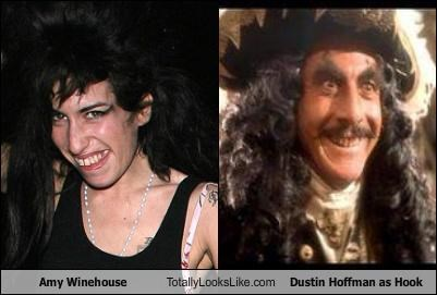 Amy Winehouse Totally Looks Like Dustin Hoffman as Hook
