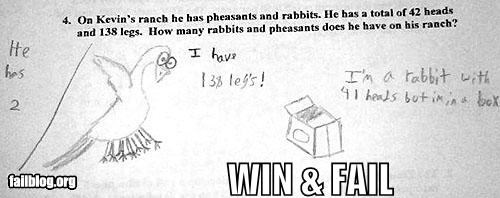 Creativity WIN / Answer FAIL
