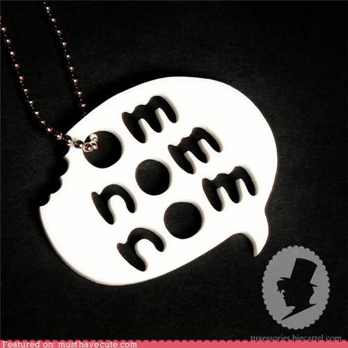 cute-kawaii-stuff-omnomatopoeia-necklace,Jewelry,necklace,om nom nom