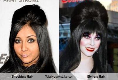 Snookie's Hair Totally Looks Like Elvira's Hair
