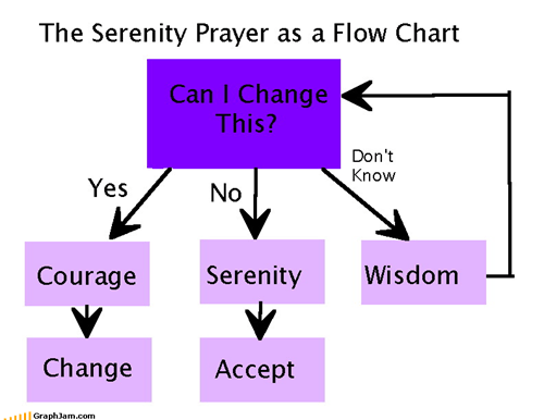 change,courage,difference,flow chart,grant me,look it up,Serenity Prayer,wisdom