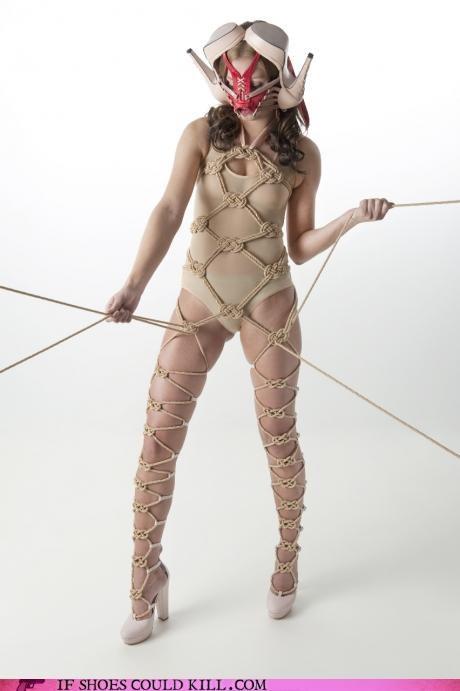 bondage,Fetish,gaga,High Fashion,lace,lady gaga,Minna Parikka,rope,shoes