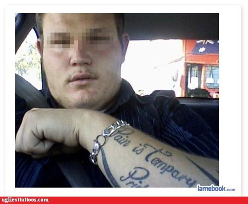 "Bet He Wishes the Tattoo Was ""Tempary"""