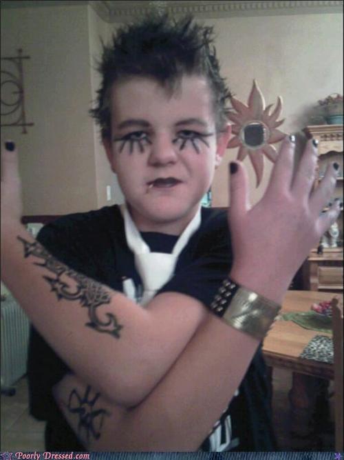 costume,kid,metal,tattoo