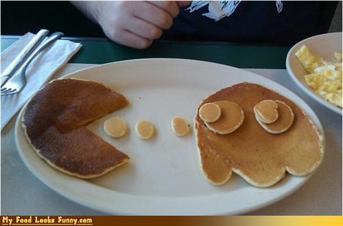 breakfast,ghost,pac man,pancakes