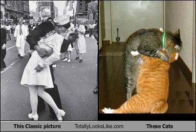 This Classic picture Totally Looks Like These Cats