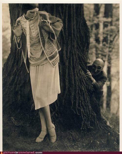 creepy,Forest,trees,vintage,wtf