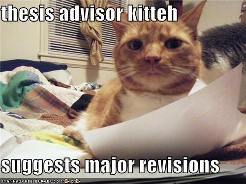 thesis advisor kitteh  suggests major revisions