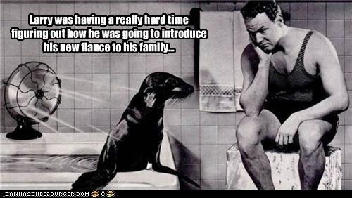 bathroom,fiancé,love,man,seal