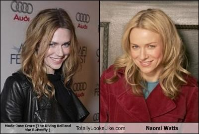 Marie-Josée Croze (The Diving Bell and the Butterfly ) Totally Looks Like Naomi Watts