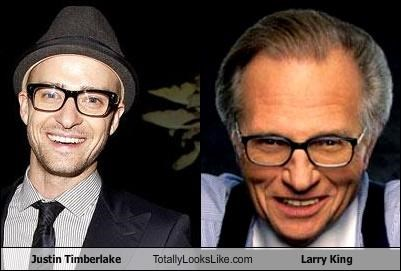 Justin Timberlake Totally Looks Like Larry King
