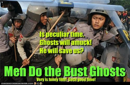 funny,Ghostbusters,lolz,police,pop culture,riot