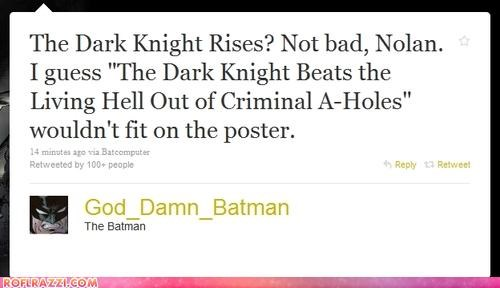 ROFLash: Batman 3 Has a Title, Don't Expect to See The Riddler
