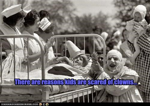 There are reasons kids are scared of clowns...