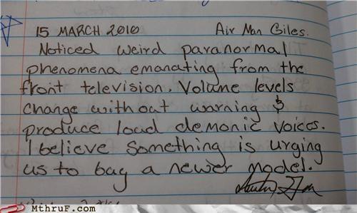 notes,paranormal,ring,television