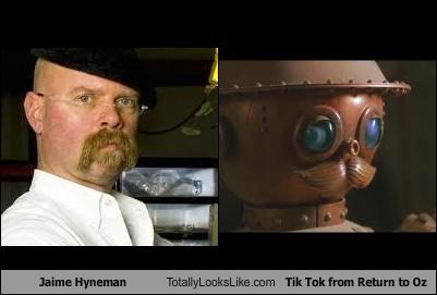 Jaime Hyneman Totally Looks Like Tik Tok from Return to Oz