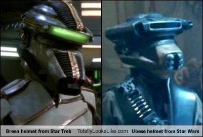 Breen helmet from Star Trek Totally Looks Like Ubese helmet from Star Wars