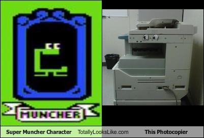 Super Muncher Character Totally Looks Like This Photocopier