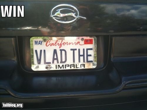 awesome,cars,failboat,g rated,holder,impala,license plate,win