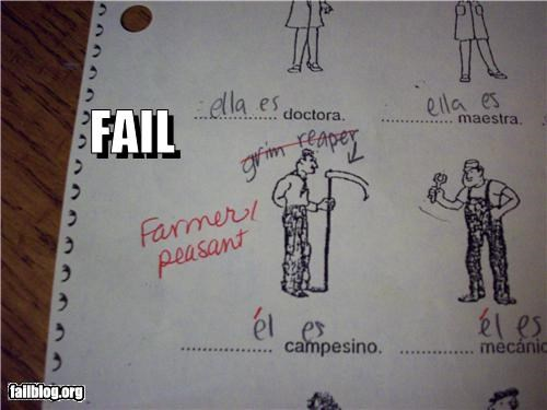 answers,failboat,g rated,grim reaper,recognition,test