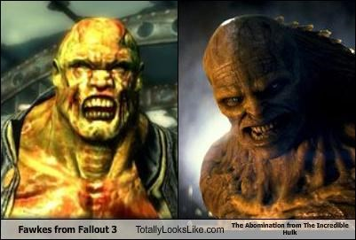 Fawkes from Fallout 3 Totally Looks Like The Abomination from The Incredible Hulk