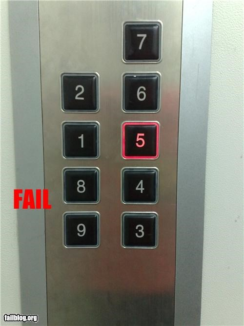 Elevator Button FAIL