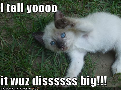 I tell yoooo  it wuz dissssss big!!!
