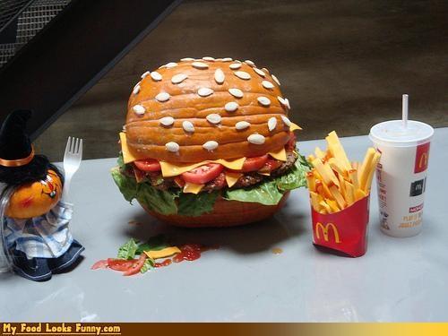 fast food,fries,giant pumpkin burger,McDonald's,mcpumpkin,meals,pumpkins