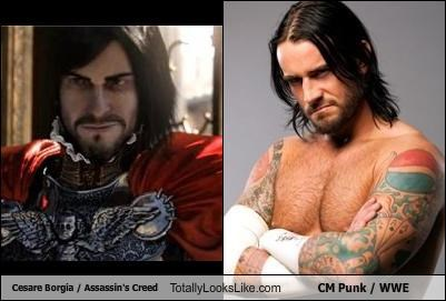 Cesare Borgia / Assassin's Creed Totally Looks Like CM Punk / WWE