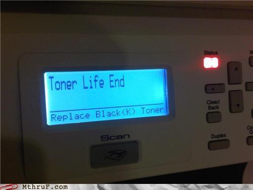 error,printer,suicide,toner life end