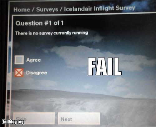 Survey Fail