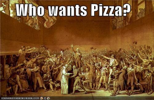 art,group scene,historic,painting,pizza