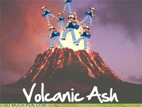 ash,brock,characters,disaster,eruption,Exeggutor,Fearow,generation iv,houndoom,misty,Mount Stark,moves,Pokémon,sinnoh,tragedy,volcano