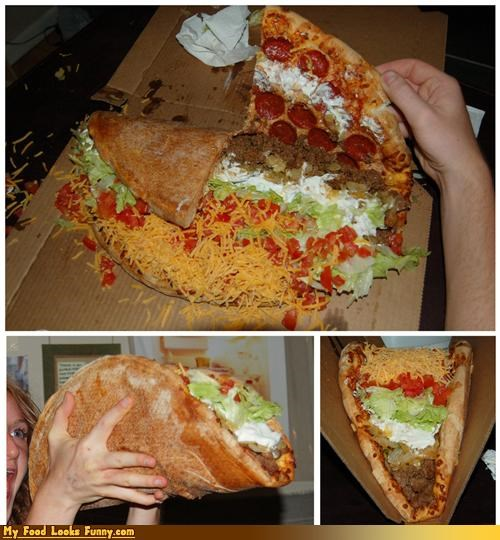 Funny Food Photos - Giant Pizza Taco