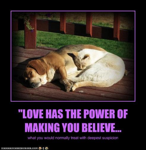"""""""LOVE HAS THE POWER OF MAKING YOU BELIEVE..."""