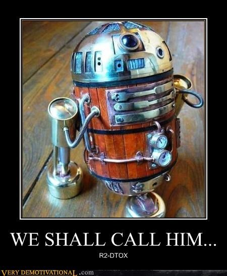 awesome,drinking,r2d2,Steampunk
