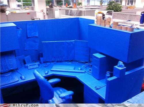 arrested development,blue,cubicle prank,tape